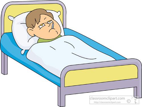 Boy Sick in Bed
